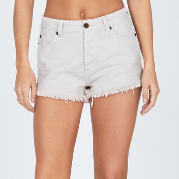 8699cc0b5cf6 Amuse Shoreline Denim Shorts - natural